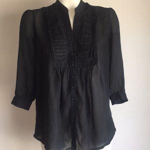 Small black Blouse Sheer 3qtr sob